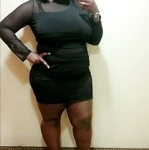 Black Dress w/Sheer inserts